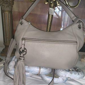 Michael Kors grey leather bag